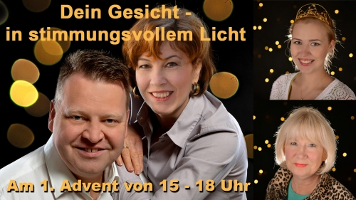 Dein Gesicht in stimmungsvollem Licht - Advents-Portrait nur am 1. Advent 2017
